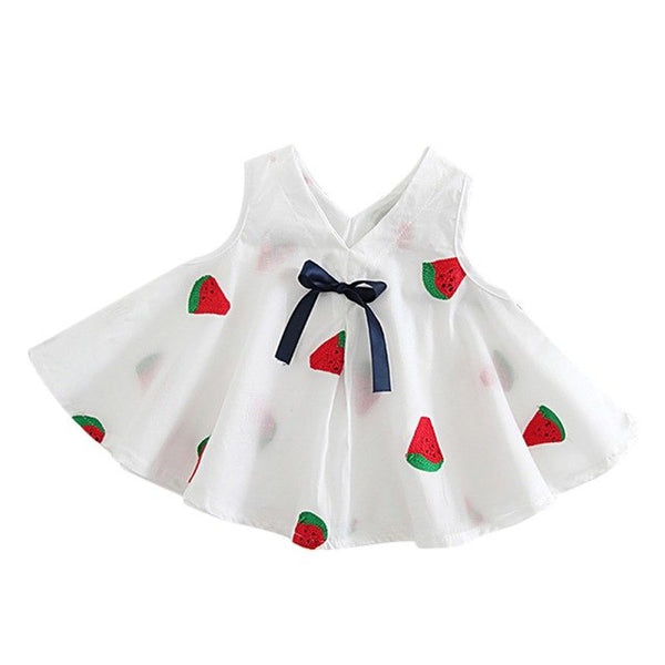 Cute Toddler Princess Baby Kids Girl Sleeveless Dress Party Tutu Summer Embroidered Bow Dress New