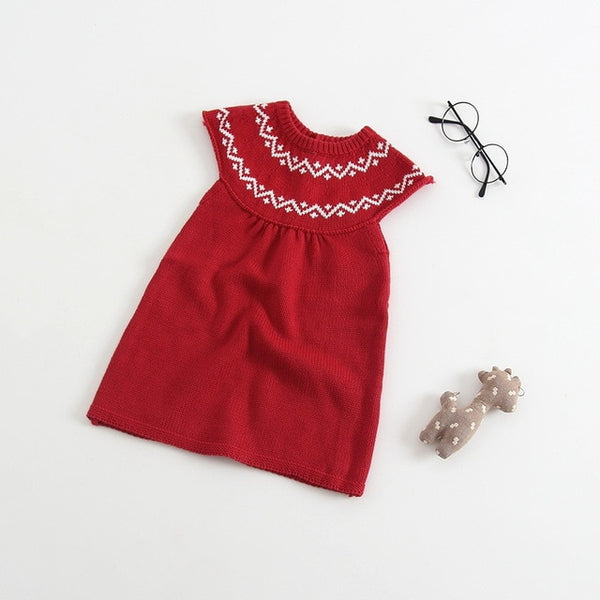 High quality autumn new baby wool knitted baby girl dress
