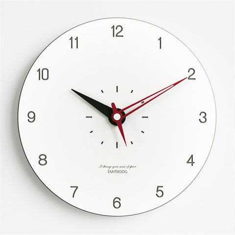 Chic Modern Pine Wooden Wall Clock Nordic Round Minimalist Luxury Fashion Colorful Artistic Silently Clock for Cafe Home Decor