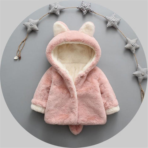 New Winter Baby Girls boys Clothes Faux Fur Fleece Coat Pageant Warm Jacket Xmas Snowsuit Baby Hooded Jacket Outerwear