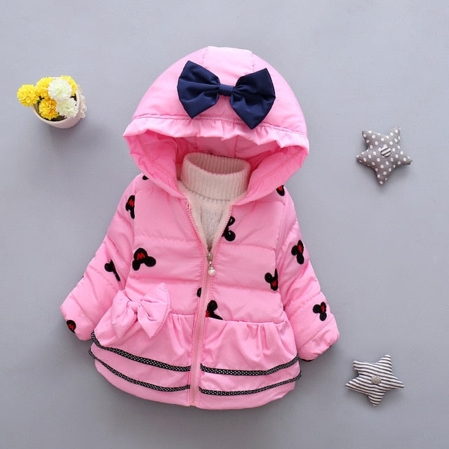 424cd32893ff Infant Girls Coat and Jacket Autumn Winter Jackets For Baby Girls ...