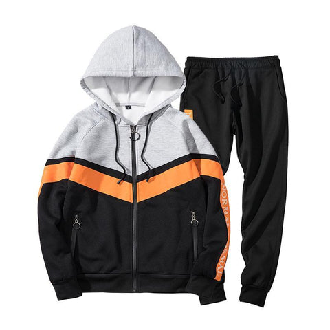 Fashion Brand Men Set Cardigan Sweatshirt Pants Long Streetwear Men's Zipper Letter Print Tracksuit Men EU Size