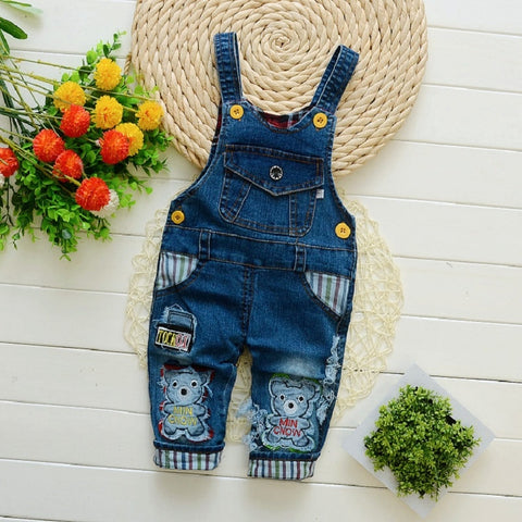 c2a885637 Toddler Infant Boy Long Pants Denim Overalls Dungarees Kids Baby Boys Jeans  Jumpsuit Clothes Clothing Outfits