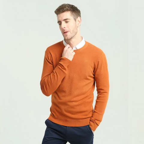 Autumn Winter New Men's Casual Sweater Fashion O-neck Classic Men Slim 100%Cotton Pullover Sweater Brand Clothing