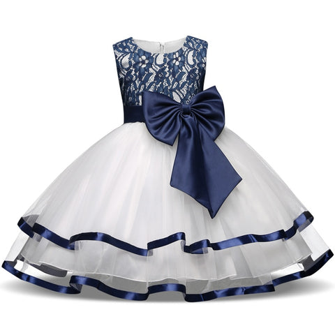 Girls Wedding Dresses Outfits Kids Dresses For Teenage Girl Bridal Party Baby Bow Lace Dress For Vestidos Summer