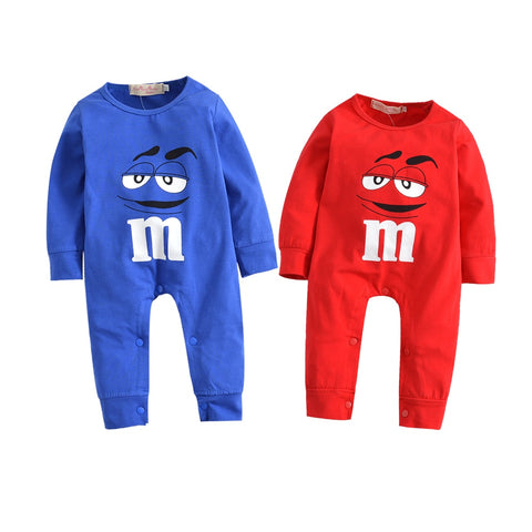 Spring Autumn Newborn Infant Baby Girl Boy Rompers Long Sleeve Clothes Red and Blue Cartoon Romper Jumpsuit Outfits