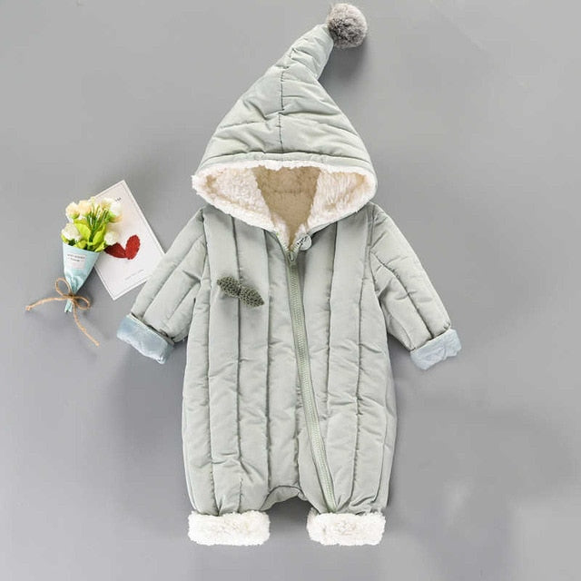 3ad83b6ae77c Baby Snowsuit Infant Boys Girls Jumpsuit Winter Thick Romper Newborn ...