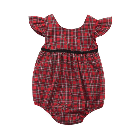 e9e0c6e04394 JOHNKART.COM.  16.88 USD. Baby Clothing Newborn Baby Girl Corset Red Blue  Plaid Romper Jumpsuit Baby Girls Casual Outfits Summer