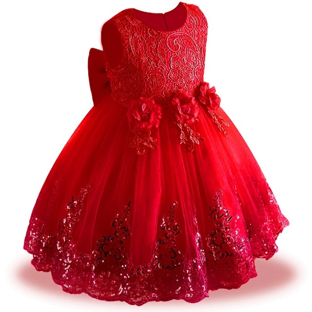 d6f358109b77 JOHNKART.COM. $29.91 USD. Lace Sequins Formal Evening Wedding Gown Tutu  Princess Dress Flower Girls Children Clothing Kids Party ...
