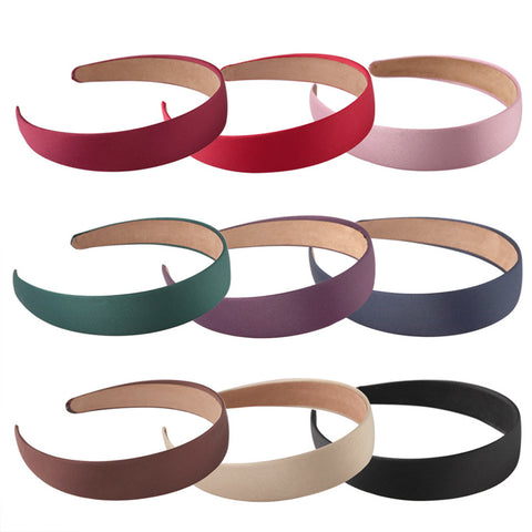 Women Wide Headband Fashion Canvas Hair Band Headwear Hairbands Boutique Hair Hoops For Girl Satin Alice Hair Accessories