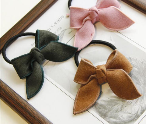 Free Shipping young girls cute bows scrunchy children hair bands gum hair tie elastic bands for hair