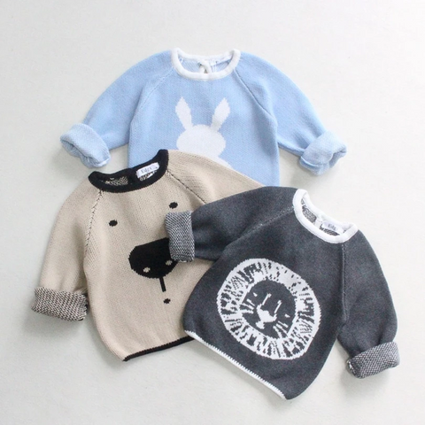Baby Sweaters Spring Boys Cardigan Cartoon Animal Bunny Bear Baby Boys Sweater Cotton Toddler Sweaters For Boys Kids Sweater
