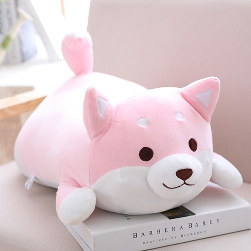 36/55 Cute Fat Shiba Inu Dog Plush Toy Stuffed Soft Kawaii Animal Cartoon Pillow Lovely Gift for Kids Baby Children Good Quality