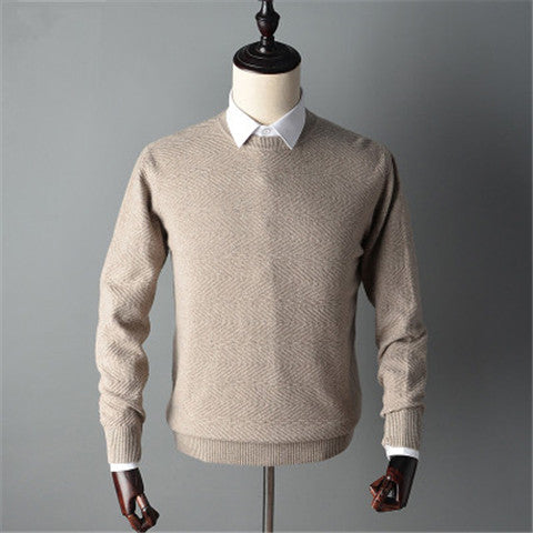 new fashion pure goat cashmere knit men Oneck slim pullover sweater solid color S-2XL retail wholesale