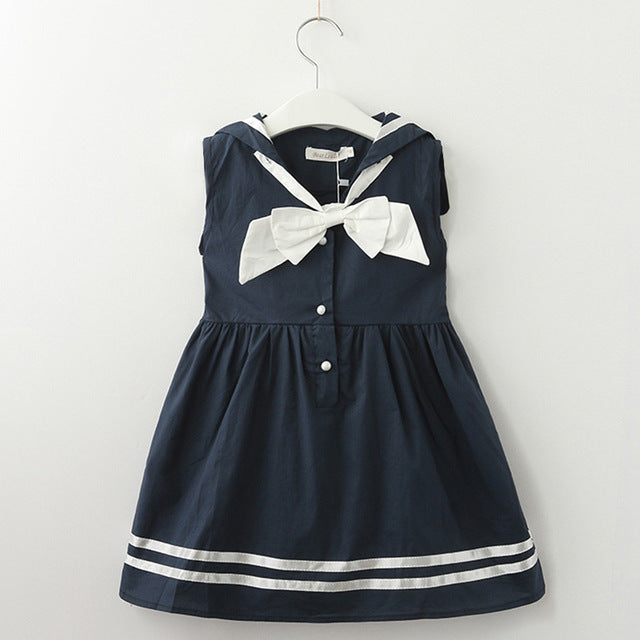 8b405a6e ... Girls Dress Casual Summer Style Bull-puncher Dresses Cotton Kids  Clothes Backless Denim Dress Shoulder ...