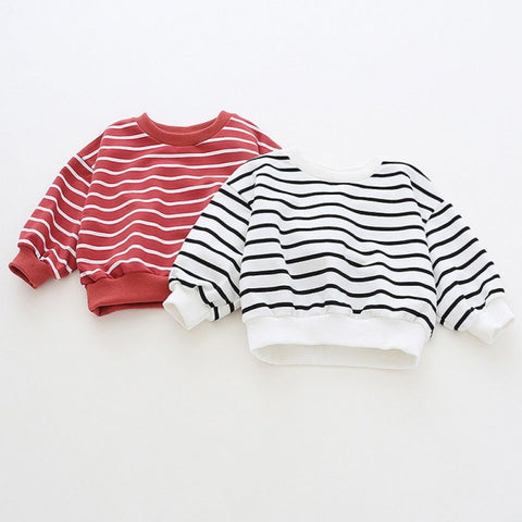 Baby Girl Autumn Stripe T-shirt Kids Children Long Sleeve Fashion Soft Cotton Tops Blouse