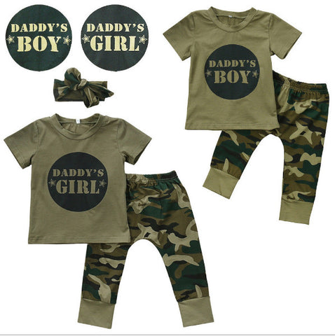 53d1aeb4451d5 Summer Style Baby Boys Girls Clothing Sets Short-sleeved Letter Printed T- shirt+