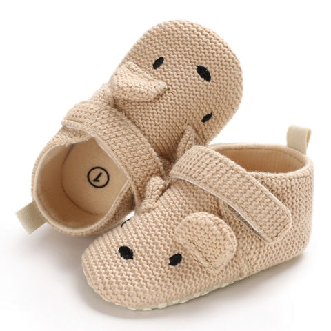 Baby Girls Shoes First Walkers Newborn Baby Cotton knitting Soft Boy Girl Fringe Soft Soled Non-slip Footwear Shoes