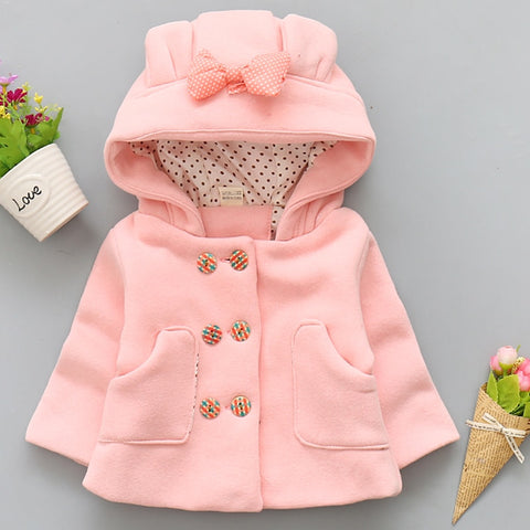 635d42d30af8 winter baby girls coat hooded jackets bowknot newborn girls clothing cute  infant toddler thick outerwear autumn