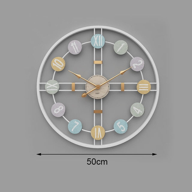 Creative Silent Wall Clock 3D Retro Rustic Decorative Luxury Wooden Handmade Oversized Wall Clock for Home Bar Cafe Decor