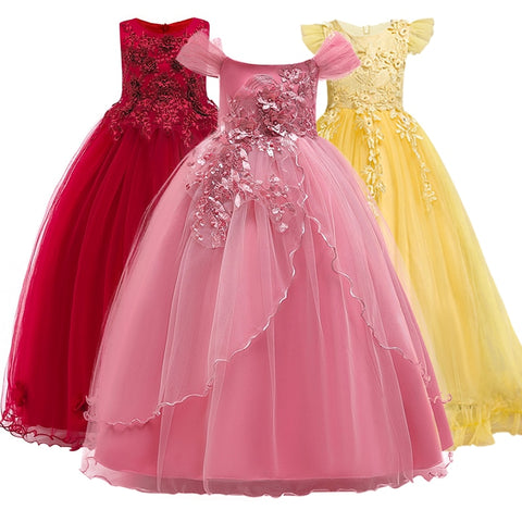 New summer Princess sleeveless dress girl's wedding dress, girls' party noble temperament,dress 5-14yrs It's beautiful.
