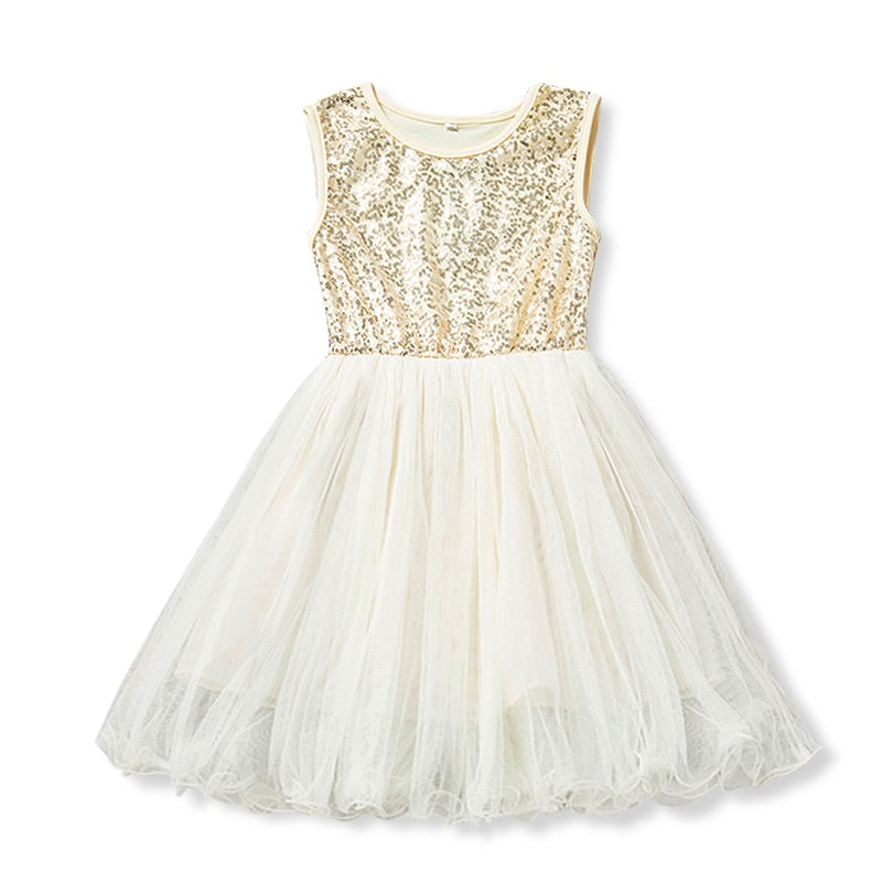 7efccce095c28 Gold Sequin Dress For 3 4 5 6 7 8 Years Baby Girls Tulle Dresses Kids |  JOHNKART.COM. }