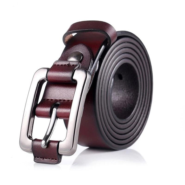 Designer Fashion Women's Belts Genuine Leather Brand Straps Female Waistband Pin Buckles Vintage for Jeans