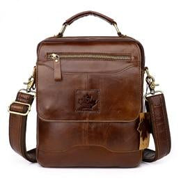 Men Genuine Leather Crossbody Shoulder Bag Men Messenger Bag Fashion Leather Male Business Bag Briefcase Handbag