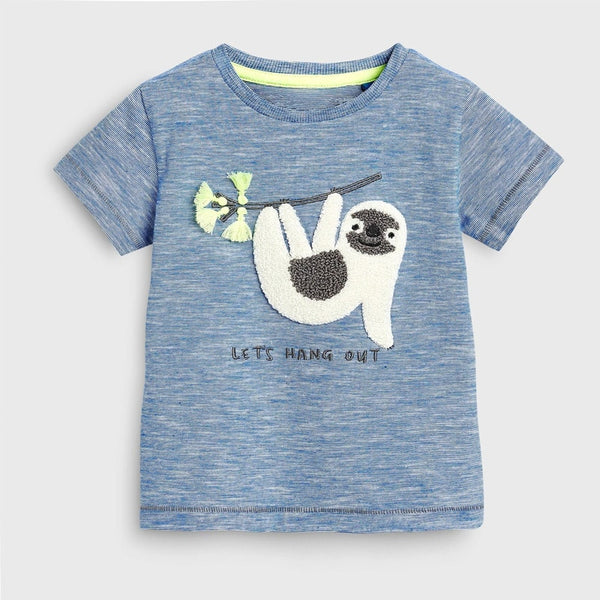 Summer 2-7 year baby Kids Girls Boys Cartoon Embroidery Monkey Letters cotton Top Quality Cotton t-shirts Tops shirt