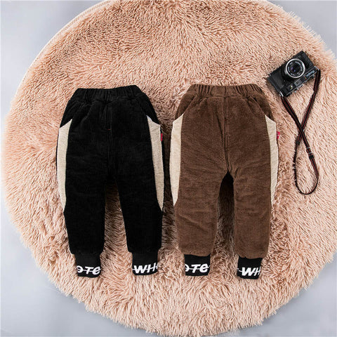 Baby Cotton Pants Toddler Boys Thick Pants 2019 Autumn And Winter Fashion New Children's Clothing Children's Baby Casual Pants