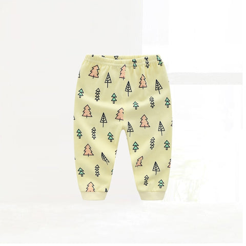 Spring Autumn Toddler Bottom Pants Kids 100% Cotton Trees Printed Leggings Baby Boys Girls Clothing Soft Warm
