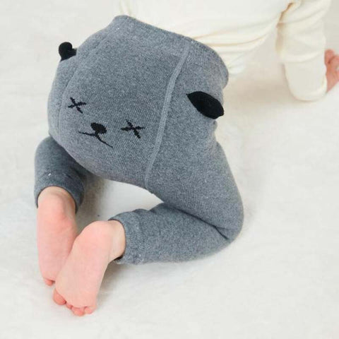 Baby Knit PP Pants Toddler Girl Cartoon Cotton High Waist Warm Leggings Newborn Boy Casual Harem Trousers Baby Pantyhose Clothes