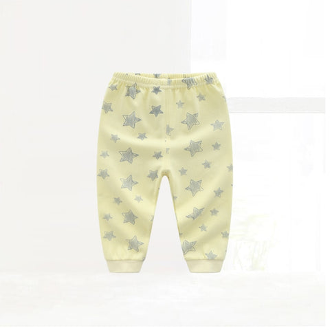 Spring Autumn Toddler Bottom Pants Kids Pure Cotton Star Printed Pants Baby Boys Girls Clothing Soft Warm