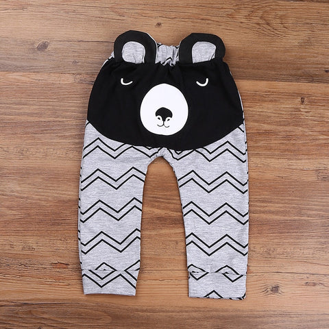 Cute Cartoon bear Pattern Baby Pants Boys Harem Pants Cotton Leisure Trousers Spring and Autumn baby boys clothes