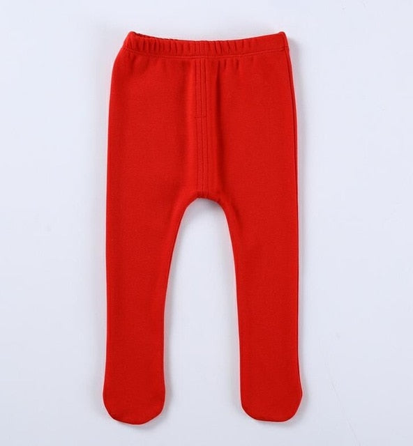 aea86aac95a ... Baby pants winter thick warm infant leggings kids clothes footies pant  boy girls pants fleece baby ...
