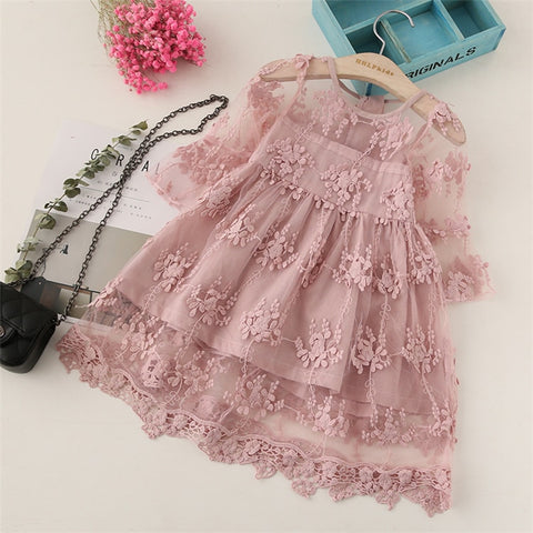 492fbb7544455 Kids Christmas Cosplay Costume Spring summer autumn baby girl dress fashion  princess Lace embroidery girl cotton