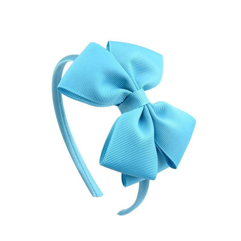 New 4 Inch Soild Big Bow Headband Hairband for Women Girls Hair Bows Grosgrain Ribbon Handmade Hair Accessories for Kids Girl