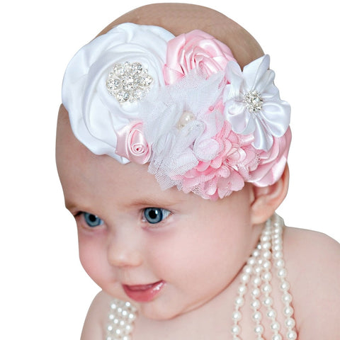 baby girl headband Infant hair accessories bows newborn tiara headwrap Toddler bandage Ribbon crystal Headwear flower cloth