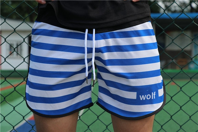 Mens Gym Fitness Shorts Run Jogging Sports Loose Mesh Quick Dry Bodybuilding Crossfit Sportswear Male Short Pants