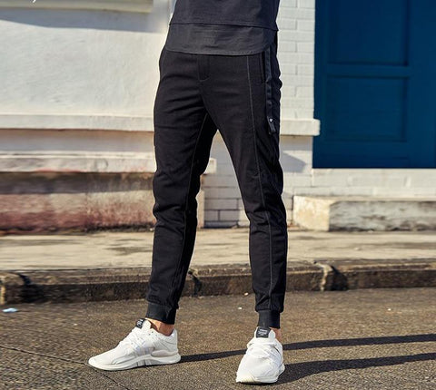 long trouser men long Straight casual sweatpants male sweatpants for men fashion black Pants male KZ6163