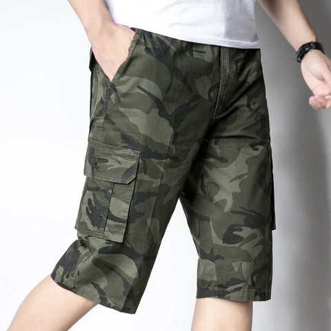 8e58e96520 Summer Mens Shorts Cotton Camouflage Camo Shorts Male Casual Military Many Pockets  Army Tactical Short Workout