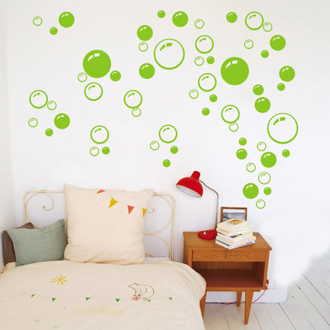 Bubbles Circle Removable Wallpaper Bathroom Window Wall Sticker Home DIY PVC Decals