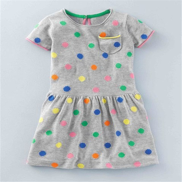 Summer Sleeveless Girls Dresses Cotton Baby clothing Dress for 2-7T Children Princess Tutu garments new brand kids girls dresses