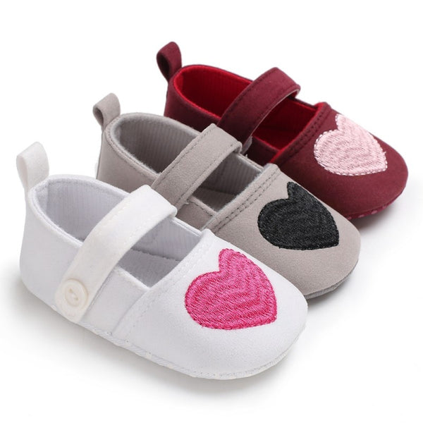 Newborn Baby Shoes Cotton Heart Cartoon Cute Baby Girl Shoes First Walkers Fashion Cute Princess Shoes
