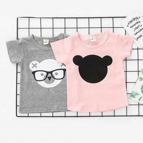 Animal Print T-shirts for Girls Summer Fashion Children T Shirts for Boys Baby Kids tshirt camisetas modis DX-CZX235
