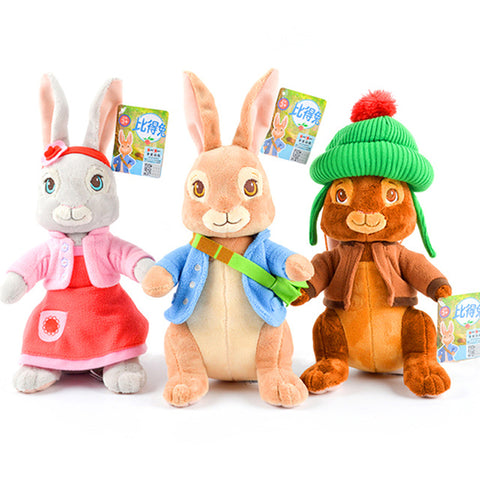 30/46cm Peter Rabbit Plush Soft and lovely Animal Rabbit Stuffed Toys for Infants Baby's Companions Gift