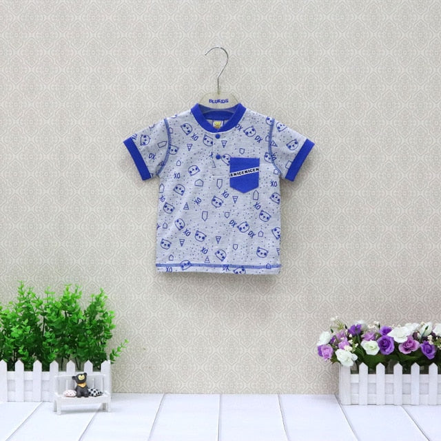 Pure Cotton Summer T Shirts For Boys and Gitls Baby Clothes Children Tops Short Sleeve Clothing