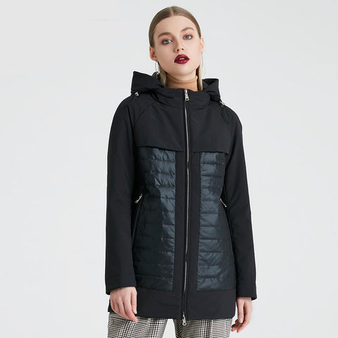 New Fashion Collection Spring Autumn Women's Short Jacket With A Hood Windproof Insulated European Style Coat
