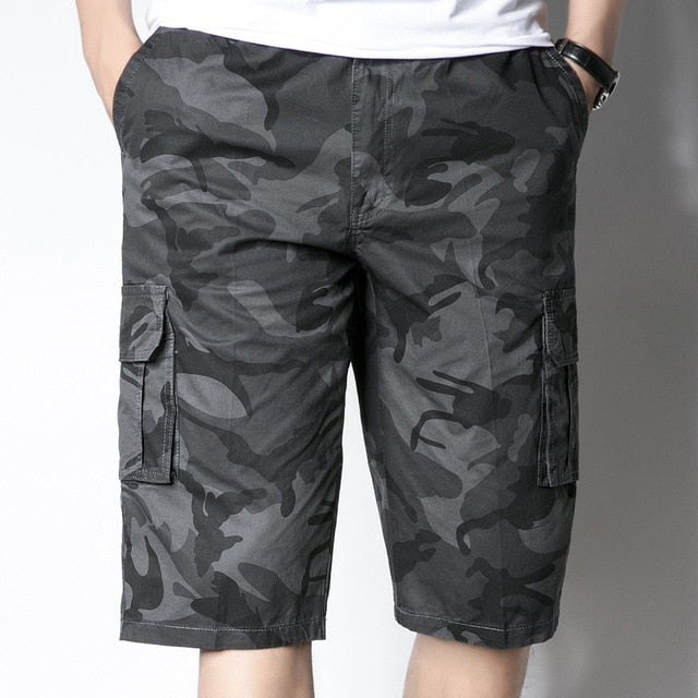 New Camouflage Camo Cargo Shorts Men Casual Shorts Male Loose Work Shorts Man Military Short Pants Plus Size M-5XL