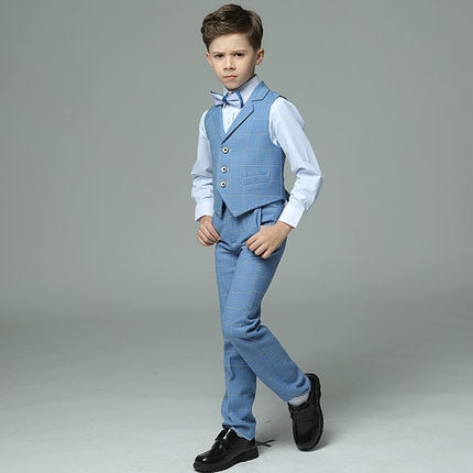 4 to 15 years old new autumn boys Summer short sleeve gentlemen blazer clothing  boys full dress clothes boys dress suit